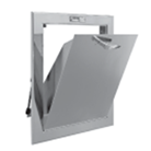 Sixteen and three eighths inch by eighteen and three eighths inch bottom hinged chute intake door assembly C series