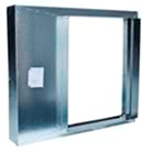 Twenty-four inch Fire Rated Trash Chute Discharge Door made in Stainless Steel