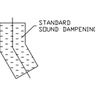 sound dampening added to single chute offset