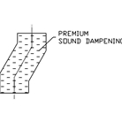sound dampening added to double chute offset