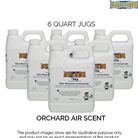 Six Quart Bottles of Odor Control Reactant Concentrate, Orchard Air Scent