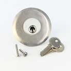 "Keyed cylinder lock assembly for any ""W"" Series chute intake door"