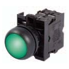Green LED Electrical Interlock Light Assembly, Black Bezel, 24 Volt