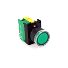 Electrical Interlock Control Panel Lighted Green Push Button, Complete, 24 Volt